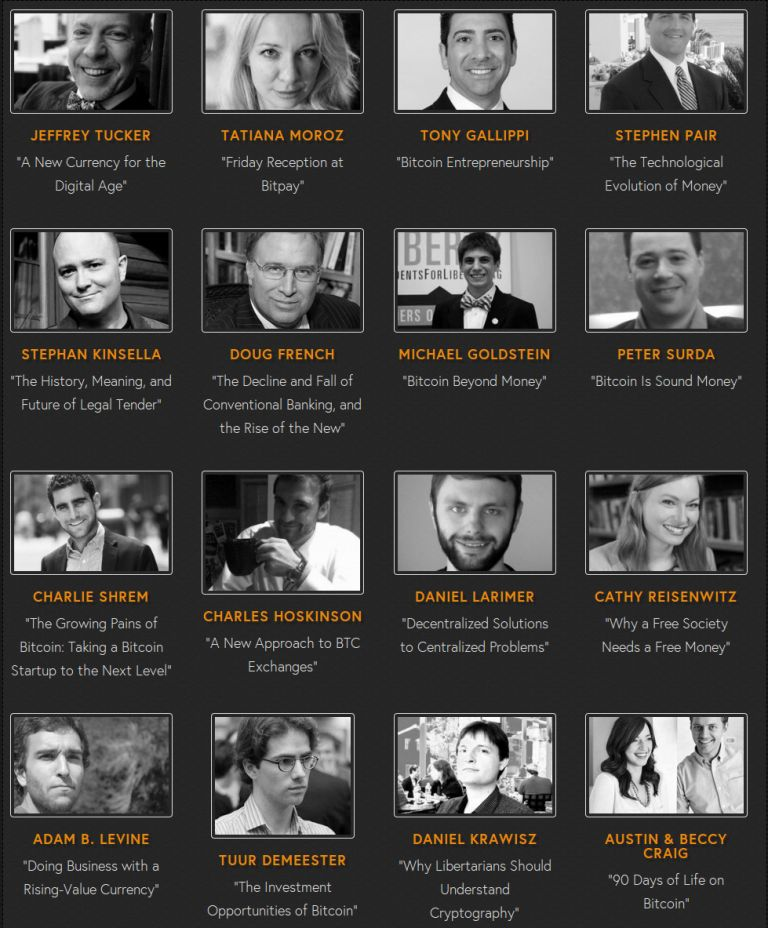 Crypto-Currency Con 2013 Speakers