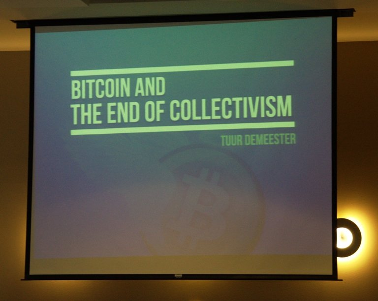 Crypto Currency Conference 2013 Atlanta Tuur Demeester Bitcoin and the End of Collectivism
