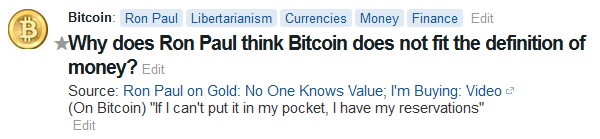 Ron Paul Bitcoin