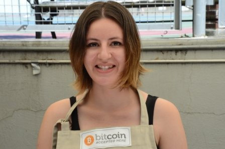 Javinia from Sugar Coup at Hester Street Fair Bitcoin