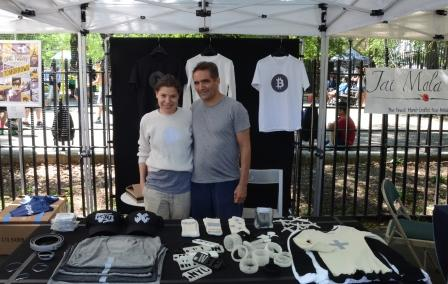 Sylvia and Scott from Heisel at Hester Street Fair Bitcoin